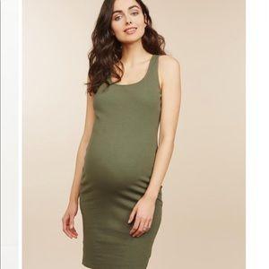 Motherhood Maternity ribbed dress